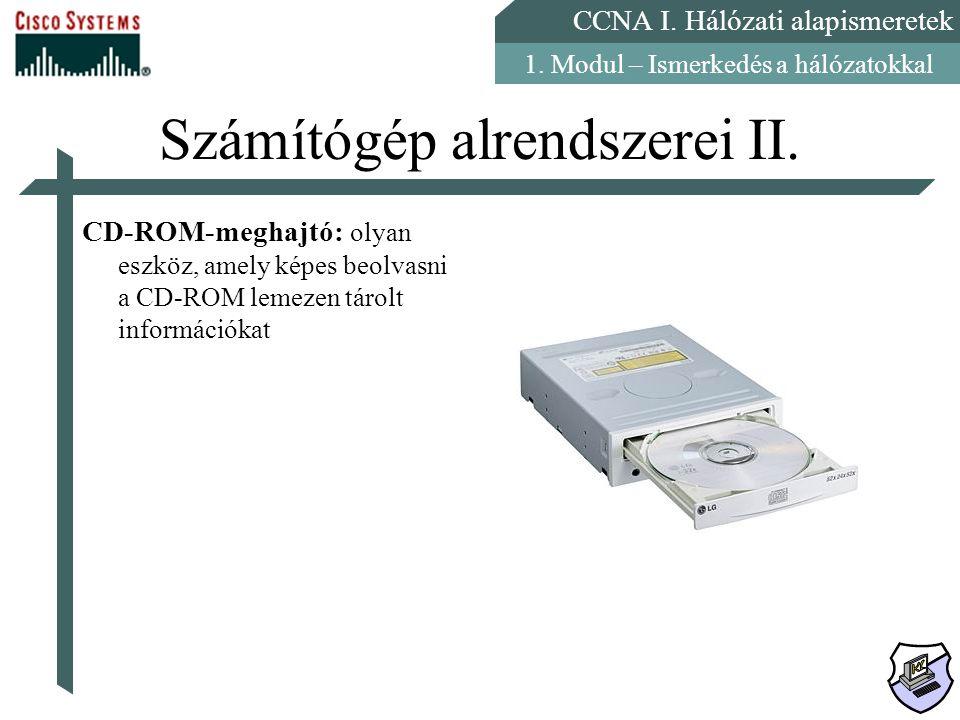 Számítógép alrendszerei II.