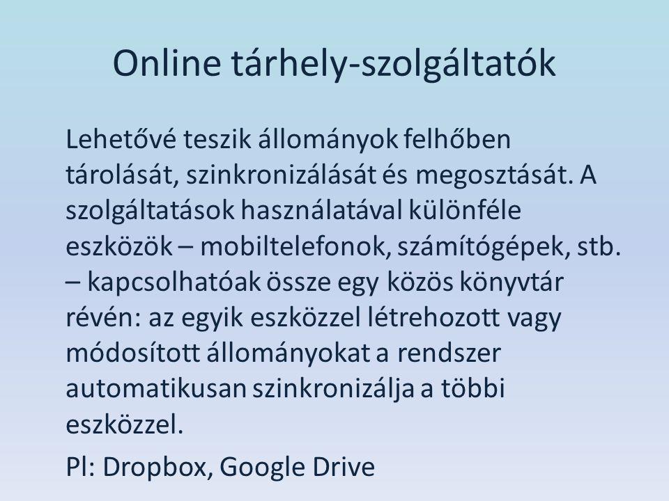 Online tárhely-szolgáltatók
