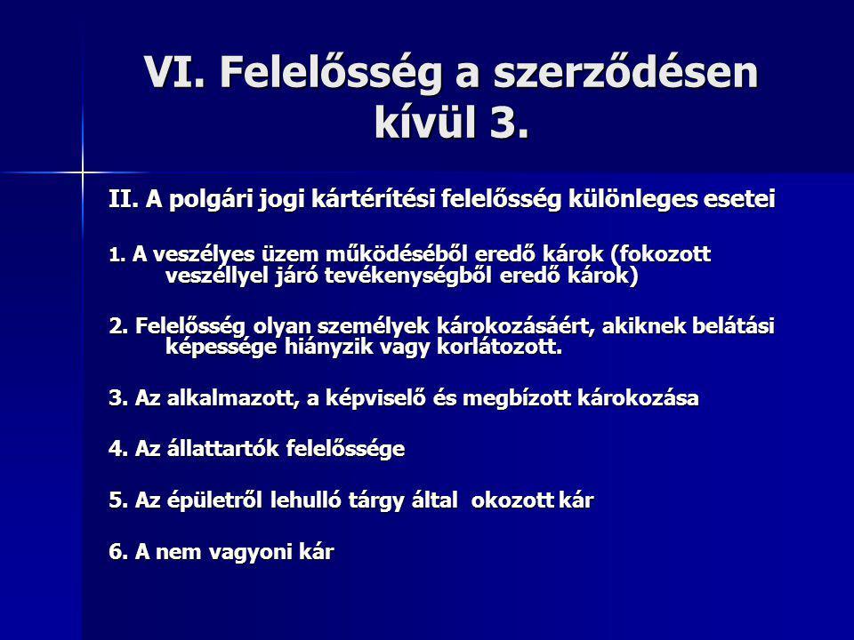 VI. Felelősség a szerződésen kívül 3.
