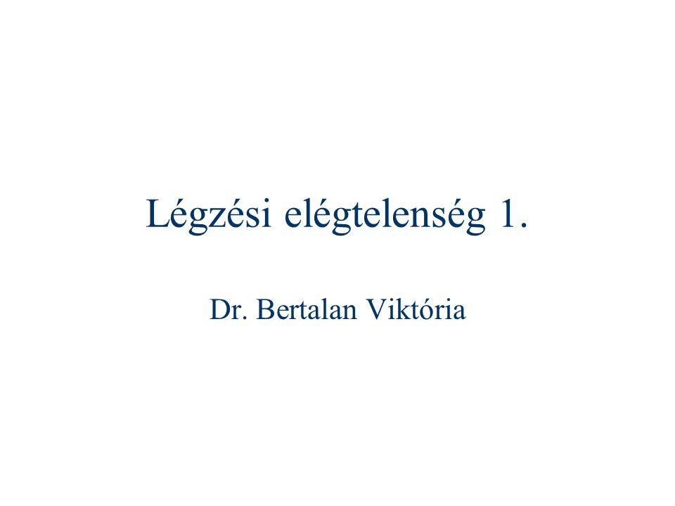 Légzési elégtelenség 1. Dr. Bertalan Viktória
