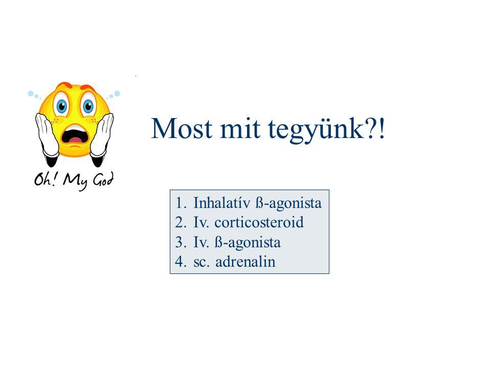 Most mit tegyünk ! Inhalatív ß-agonista Iv. corticosteroid