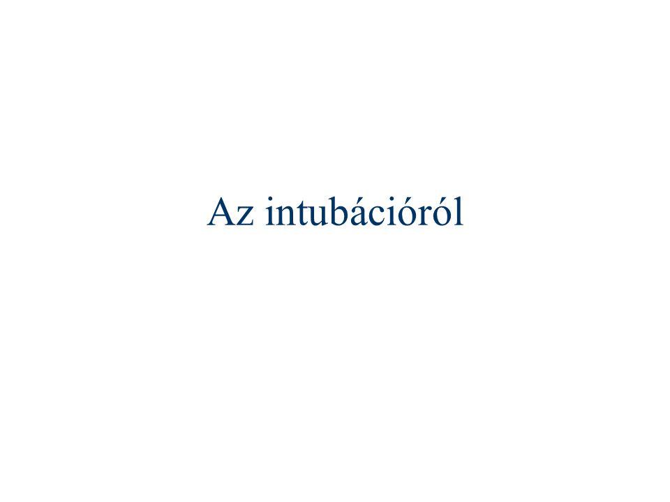 Az intubációról