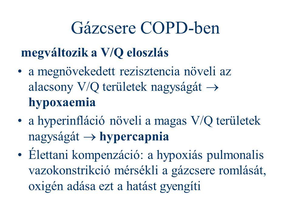 Gázcsere COPD-ben megváltozik a V/Q eloszlás
