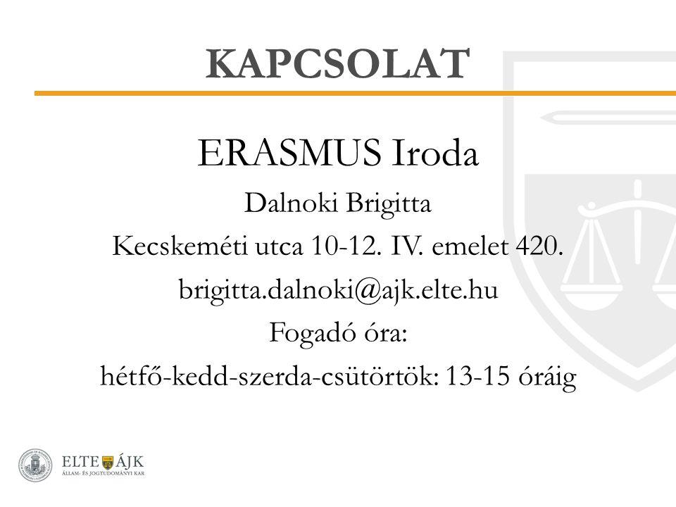 KAPCSOLAT ERASMUS Iroda Dalnoki Brigitta