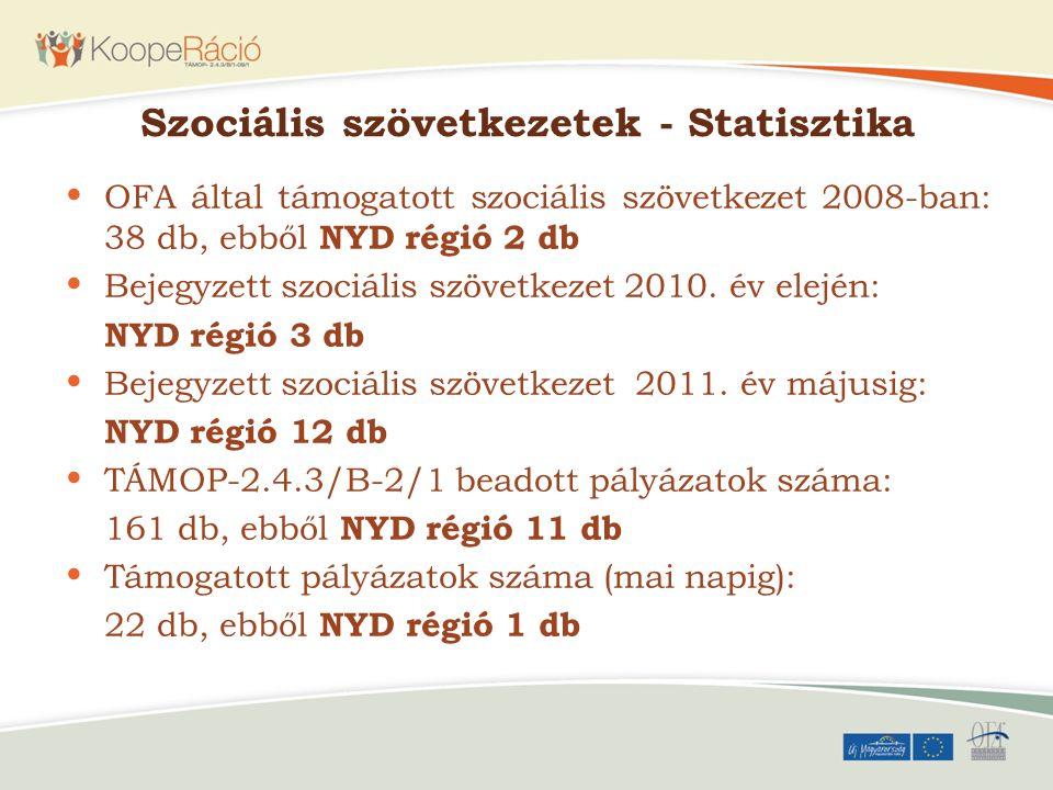 Szociális szövetkezetek - Statisztika