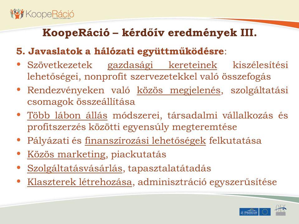 KoopeRáció – kérdőív eredmények III.