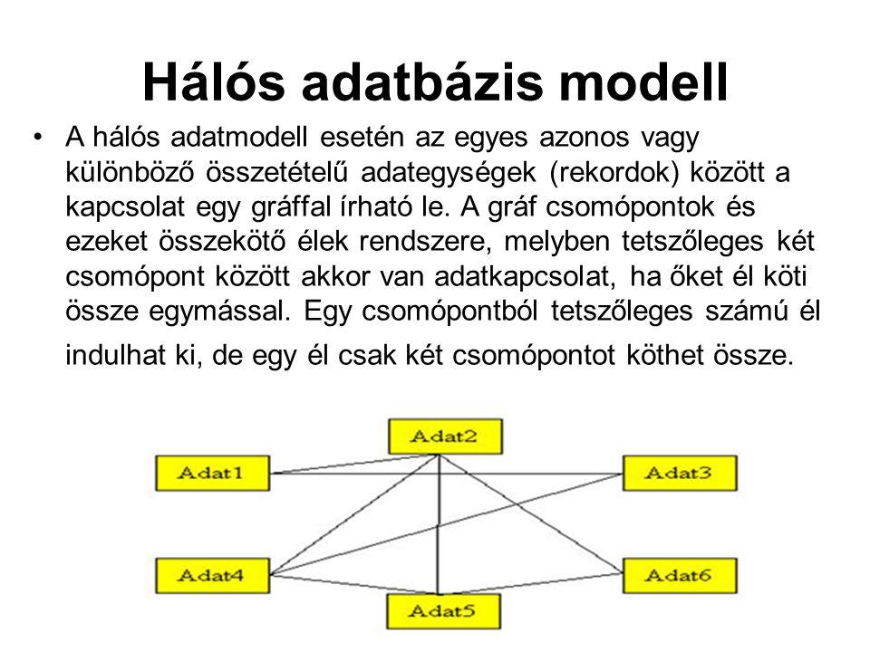 Hálós adatbázis modell