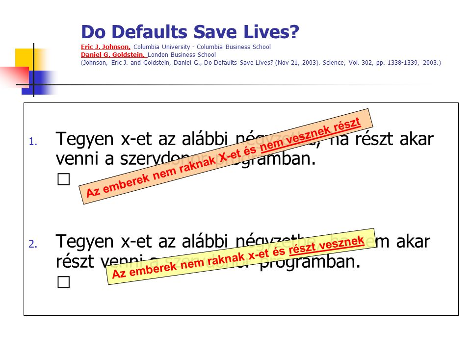 Do Defaults Save Lives. Eric J