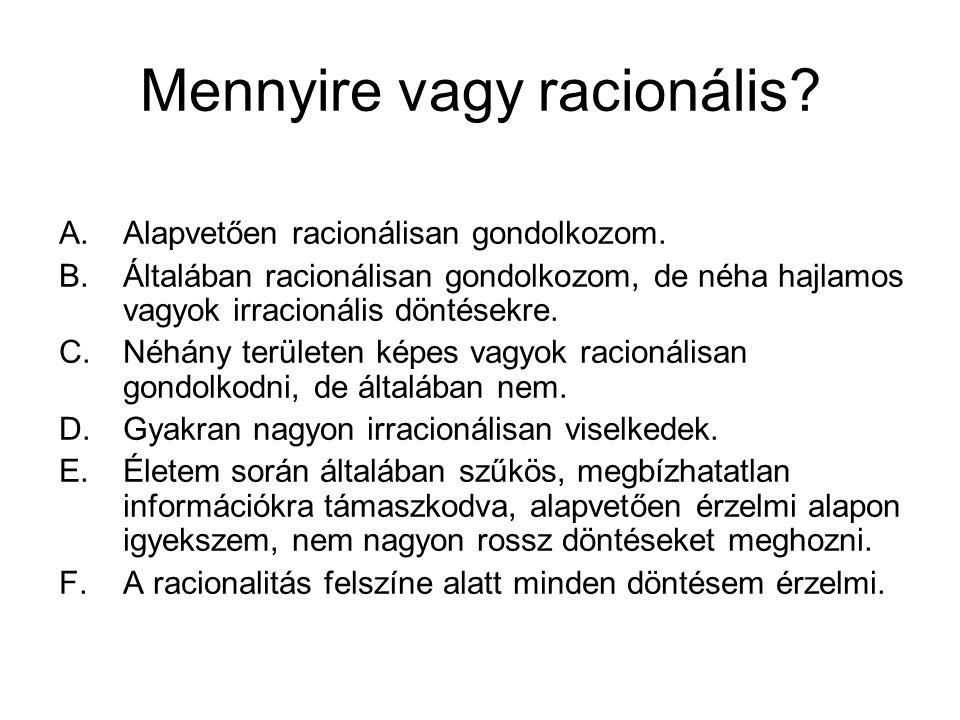 Mennyire vagy racionális