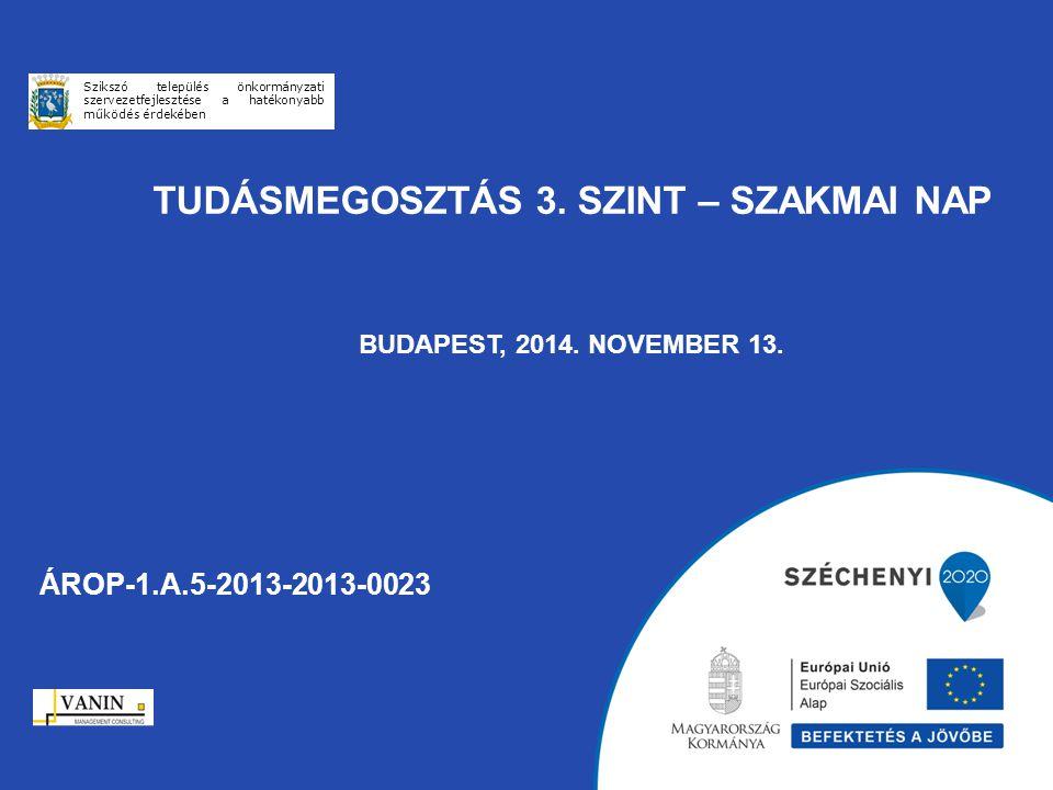 Tudásmegosztás 3. szint – Szakmai Nap Budapest, 2014. november 13.