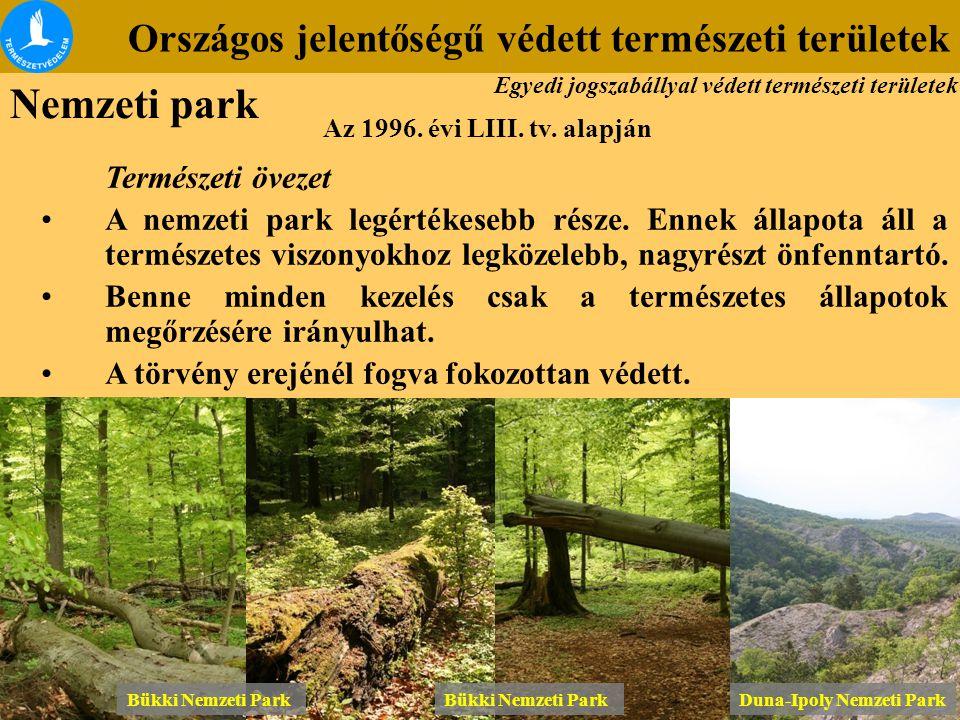 Nemzeti park Országos jelentőségű védett természeti területek