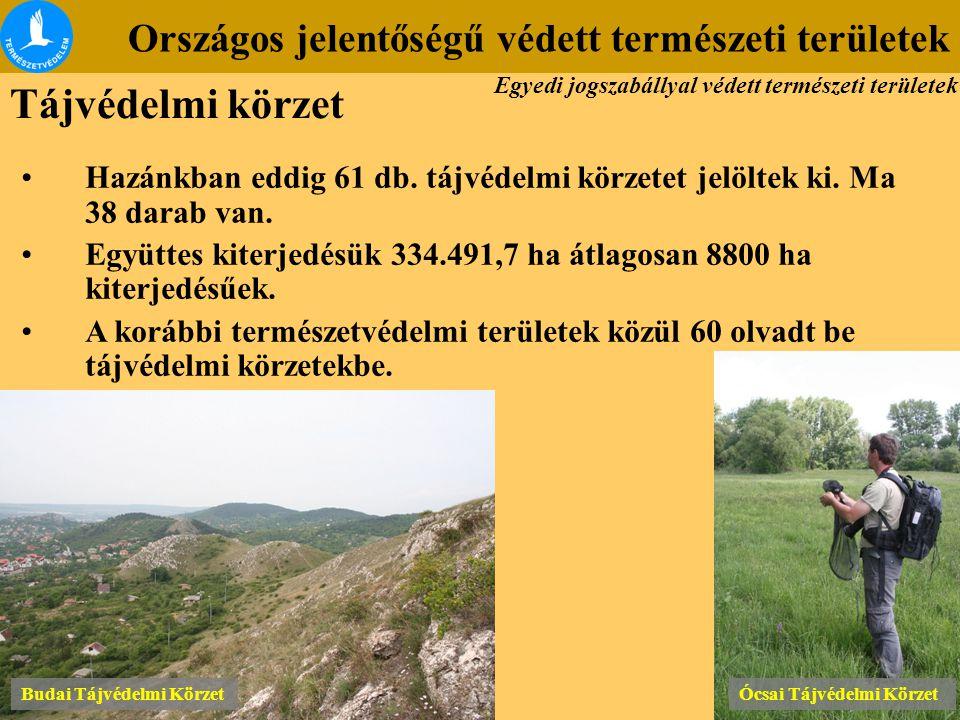 Tájvédelmi körzet Országos jelentőségű védett természeti területek
