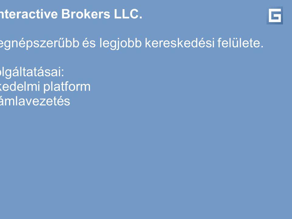 Partnerünk az Interactive Brokers LLC.