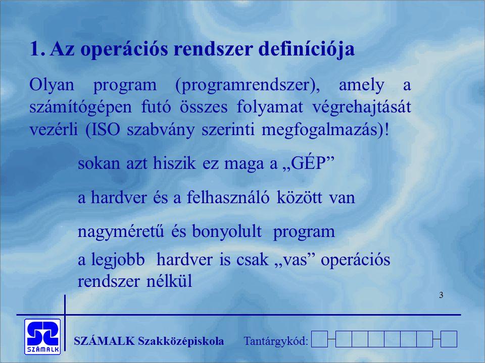 1. Az operációs rendszer definíciója