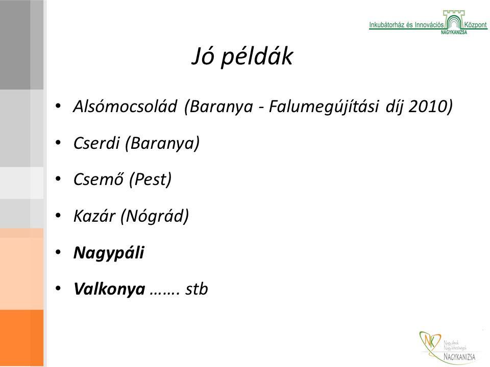 Jó példák Alsómocsolád (Baranya - Falumegújítási díj 2010)