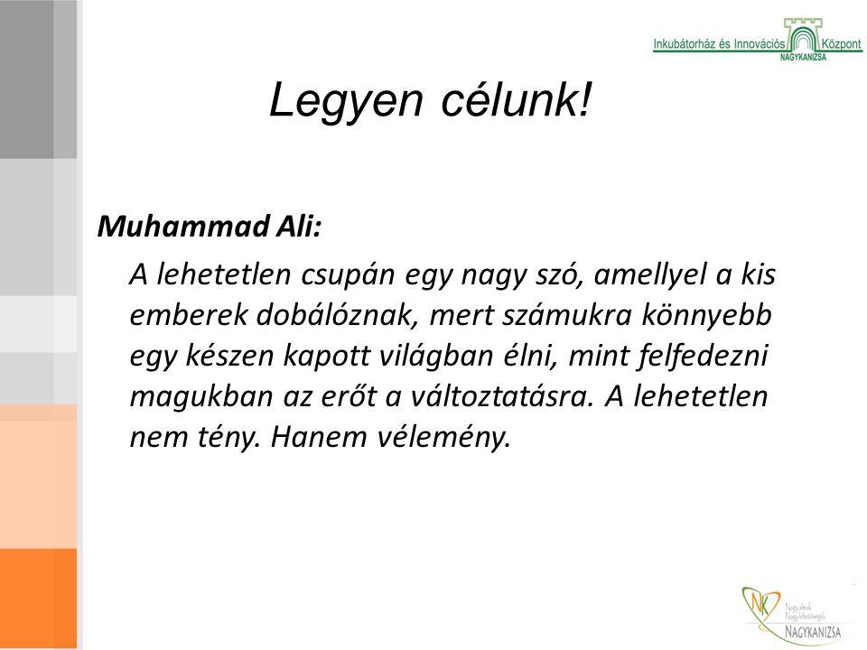 Legyen célunk! Muhammad Ali: