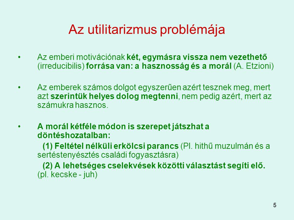 Az utilitarizmus problémája