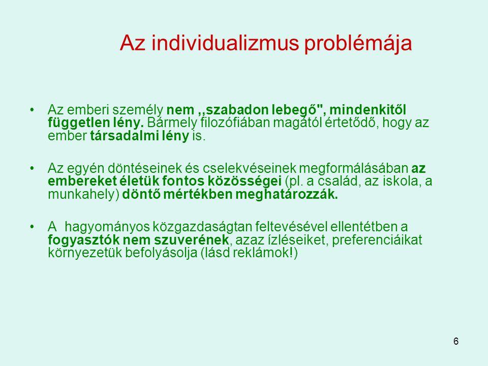 Az individualizmus problémája