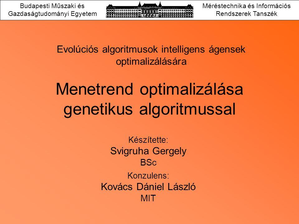 Menetrend optimalizálása genetikus algoritmussal