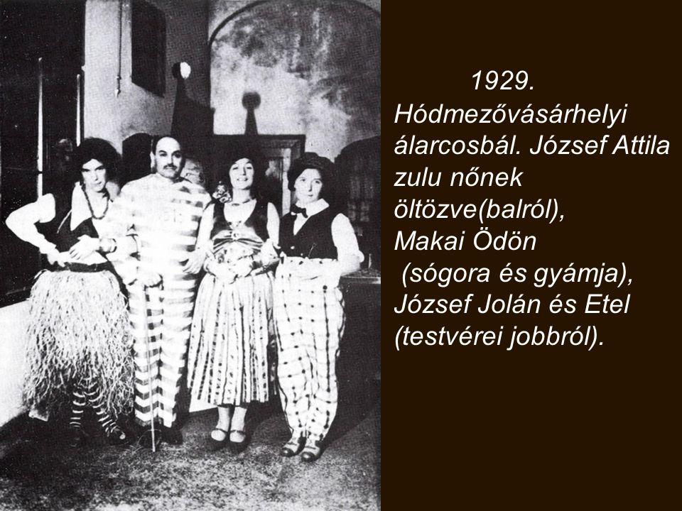1929. Hódmezővásárhelyi álarcosbál