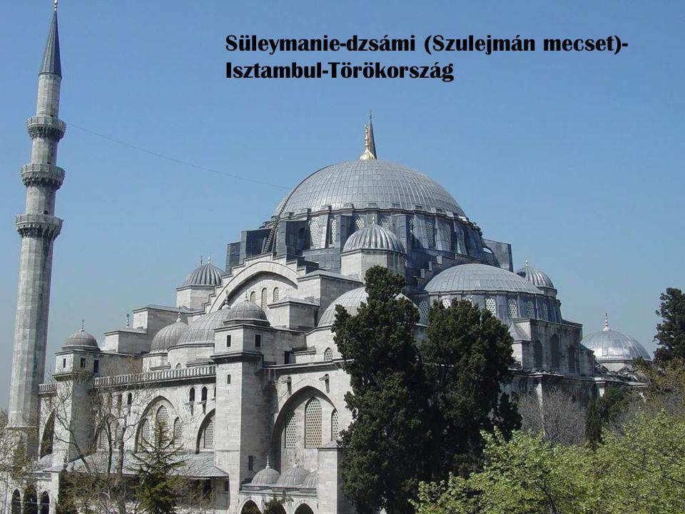 Süleymanie-dzsámi (Szulejmán mecset)-Isztambul-Törökország