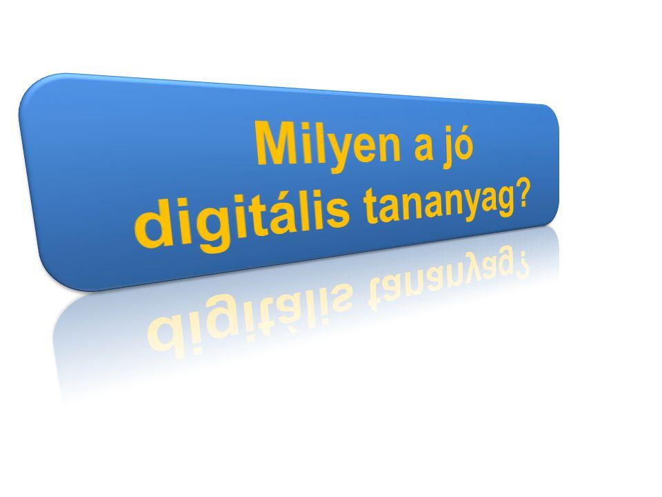 Milyen a jó digitális tananyag