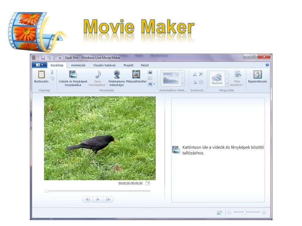 Movie Maker Videók és fényképek kombinálása