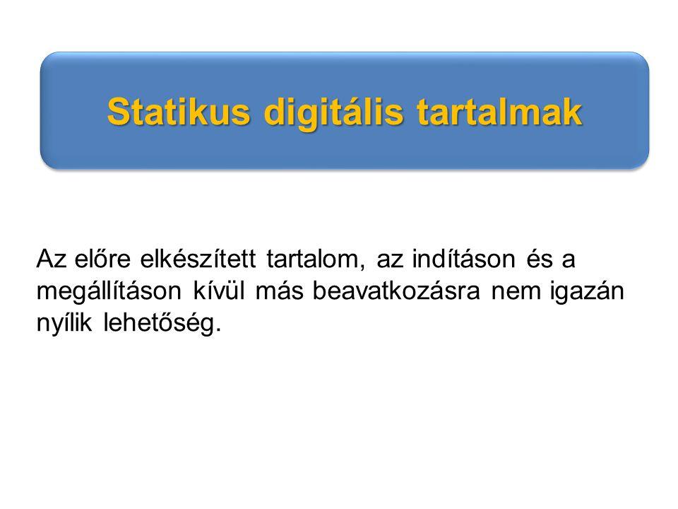 Statikus digitális tartalmak