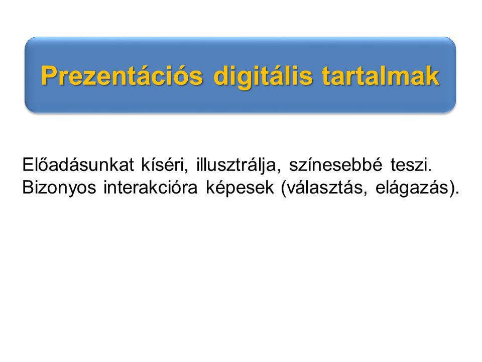 Prezentációs digitális tartalmak