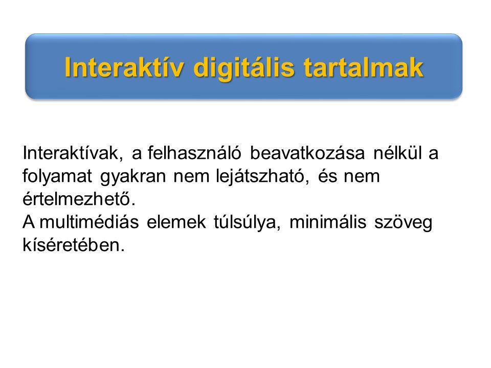 Interaktív digitális tartalmak