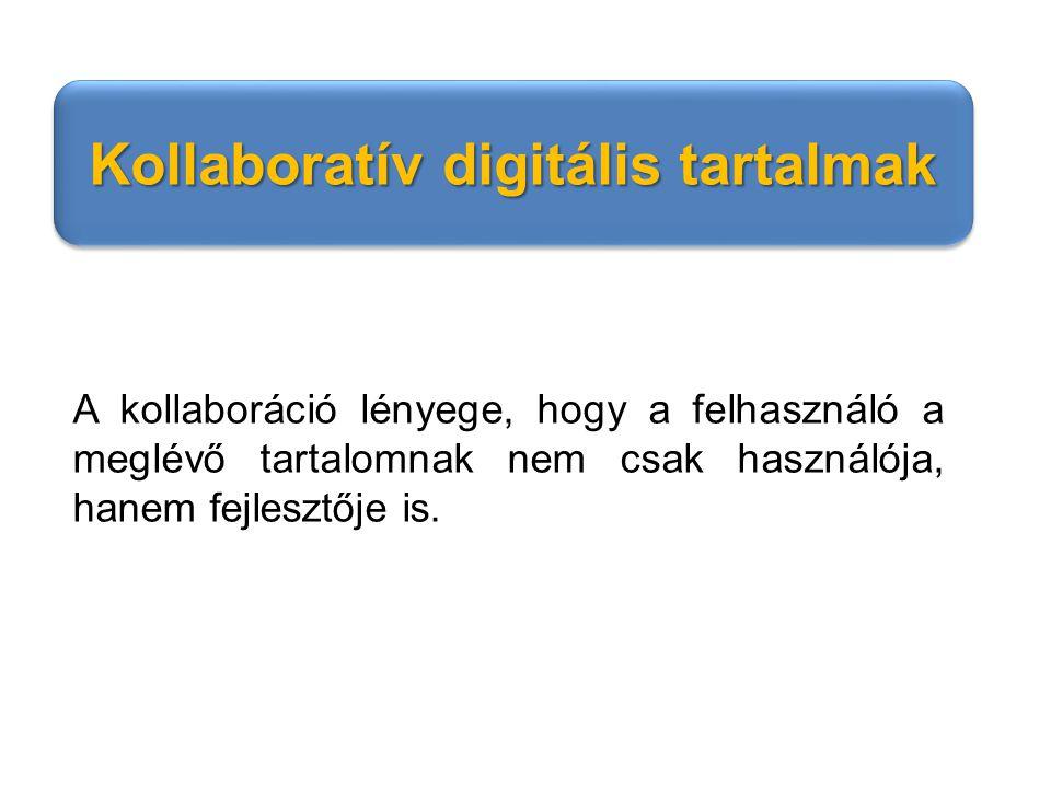 Kollaboratív digitális tartalmak