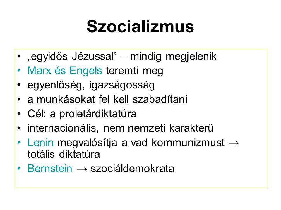 """Szocializmus """"egyidős Jézussal – mindig megjelenik"""