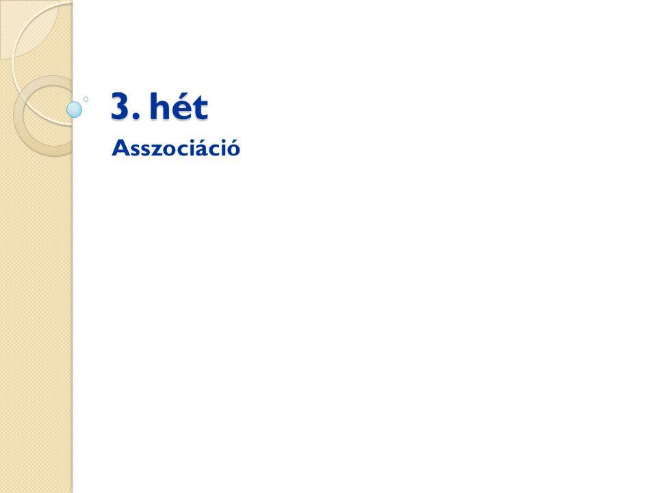 3. hét Asszociáció