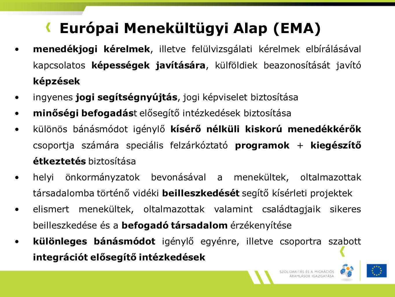 Európai Menekültügyi Alap (EMA)