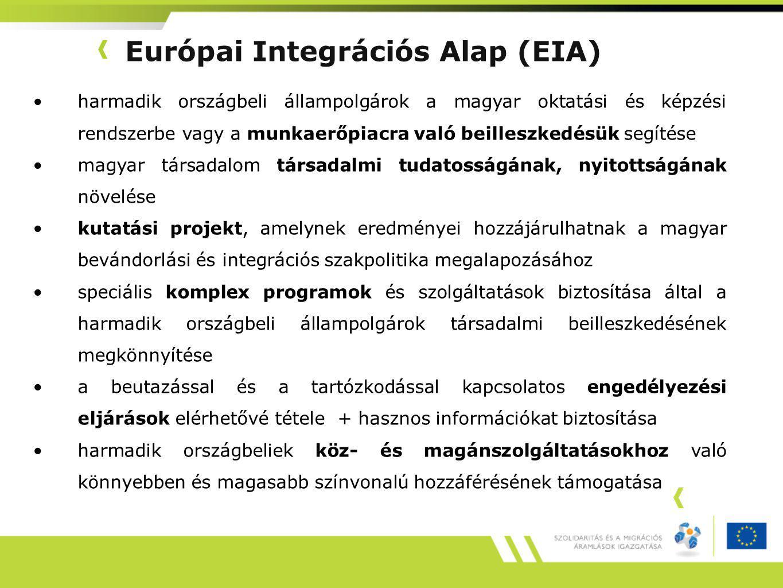 Európai Integrációs Alap (EIA)