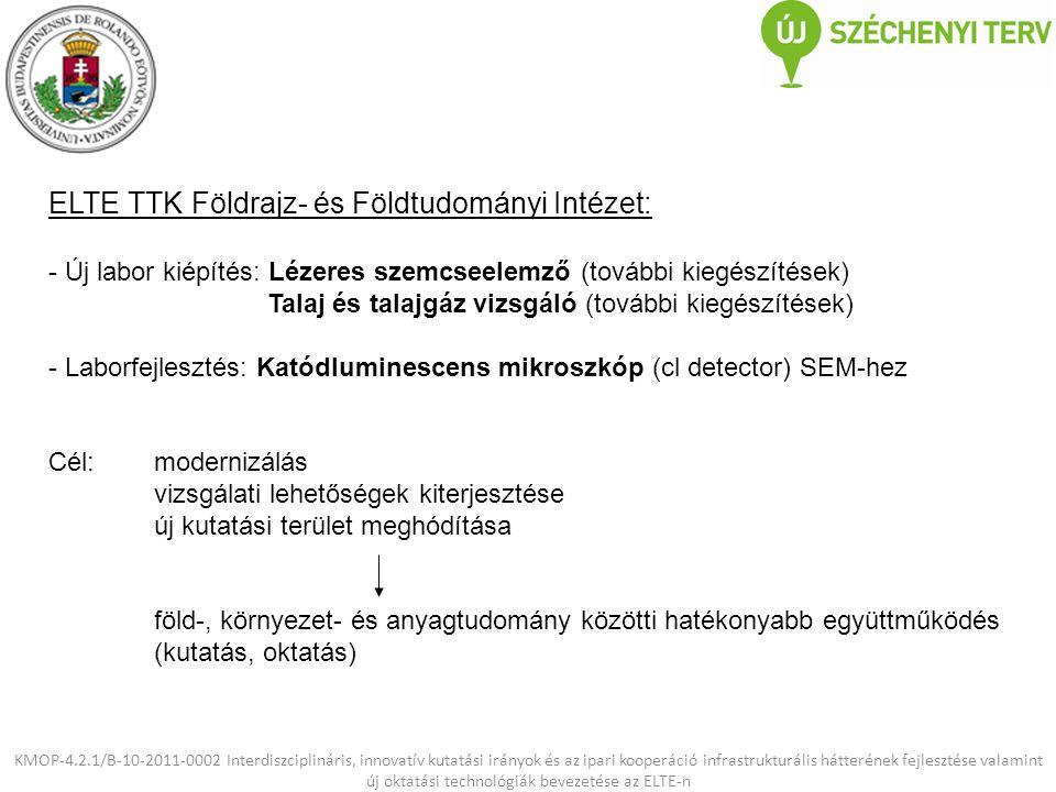 ELTE TTK Földrajz- és Földtudományi Intézet: