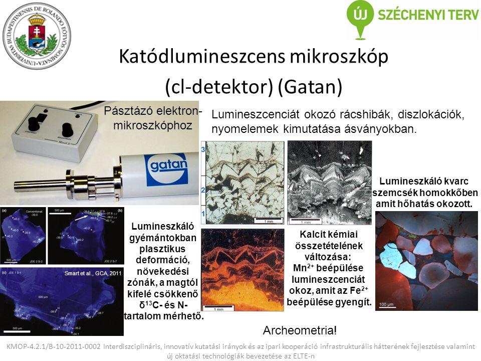 Katódlumineszcens mikroszkóp (cl-detektor) (Gatan)