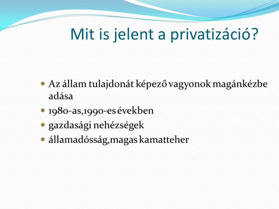 Mit is jelent a privatizáció