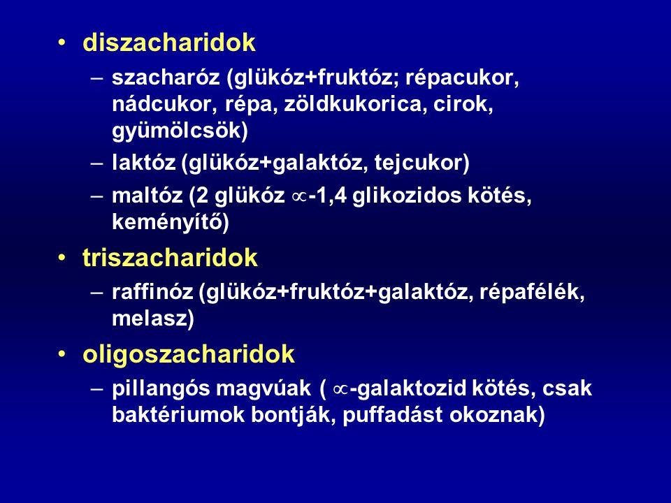 diszacharidok triszacharidok oligoszacharidok