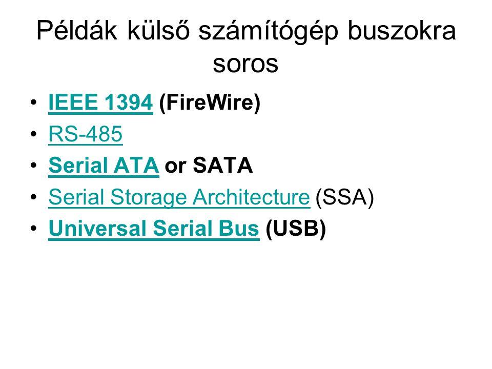 Példák külső számítógép buszokra soros