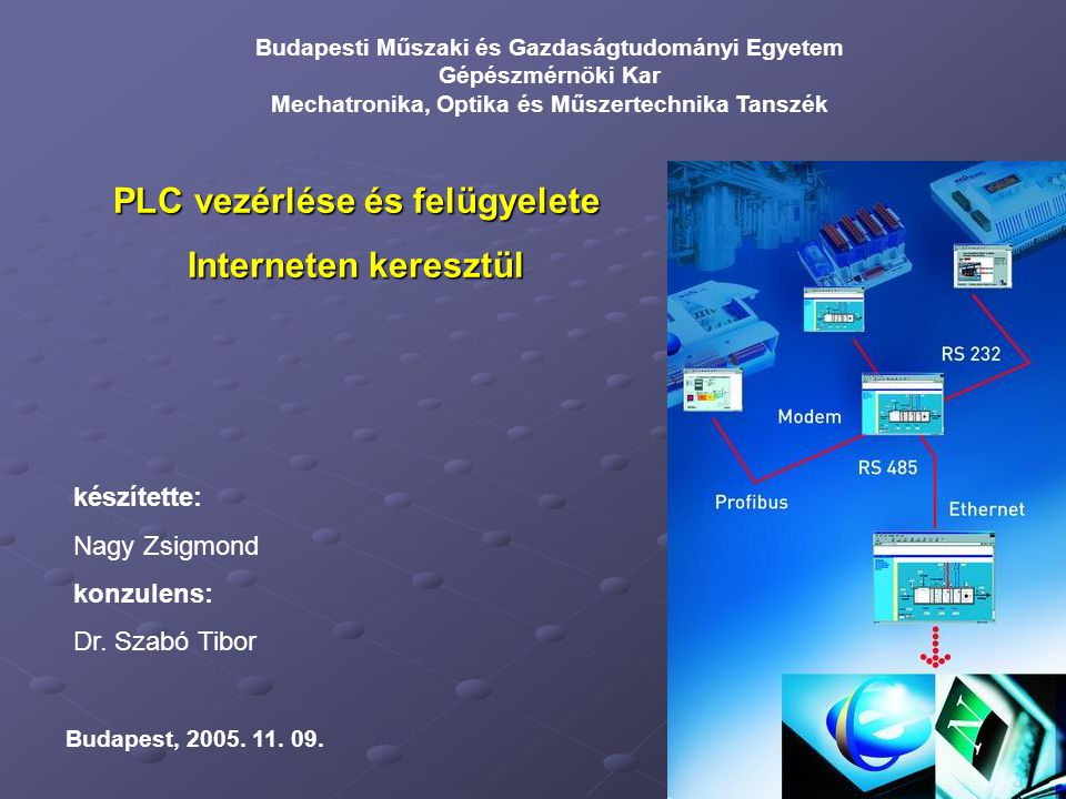 PLC vezérlése és felügyelete
