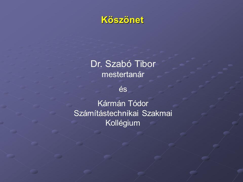 Dr. Szabó Tibor mestertanár