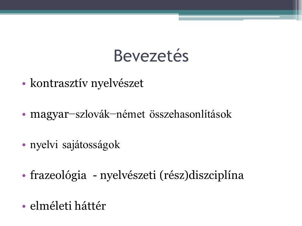 Bevezetés kontrasztív nyelvészet