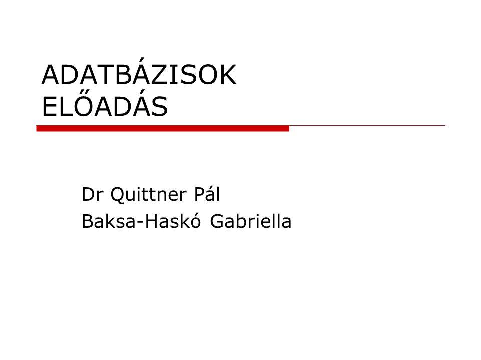 Dr Quittner Pál Baksa-Haskó Gabriella