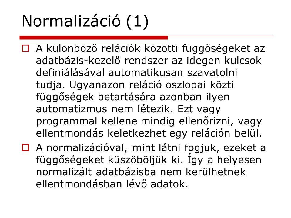 Normalizáció (1)