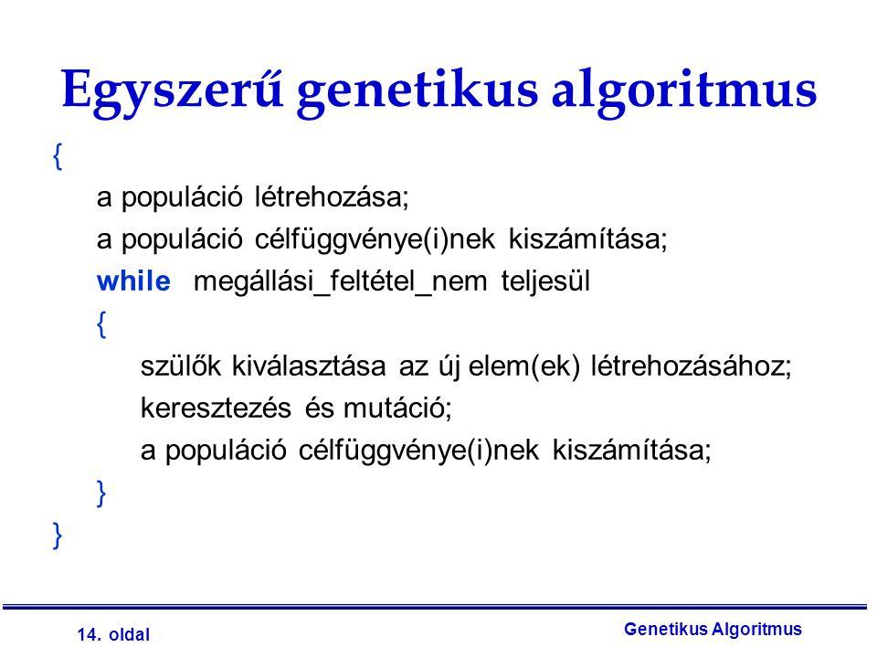 Egyszerű genetikus algoritmus