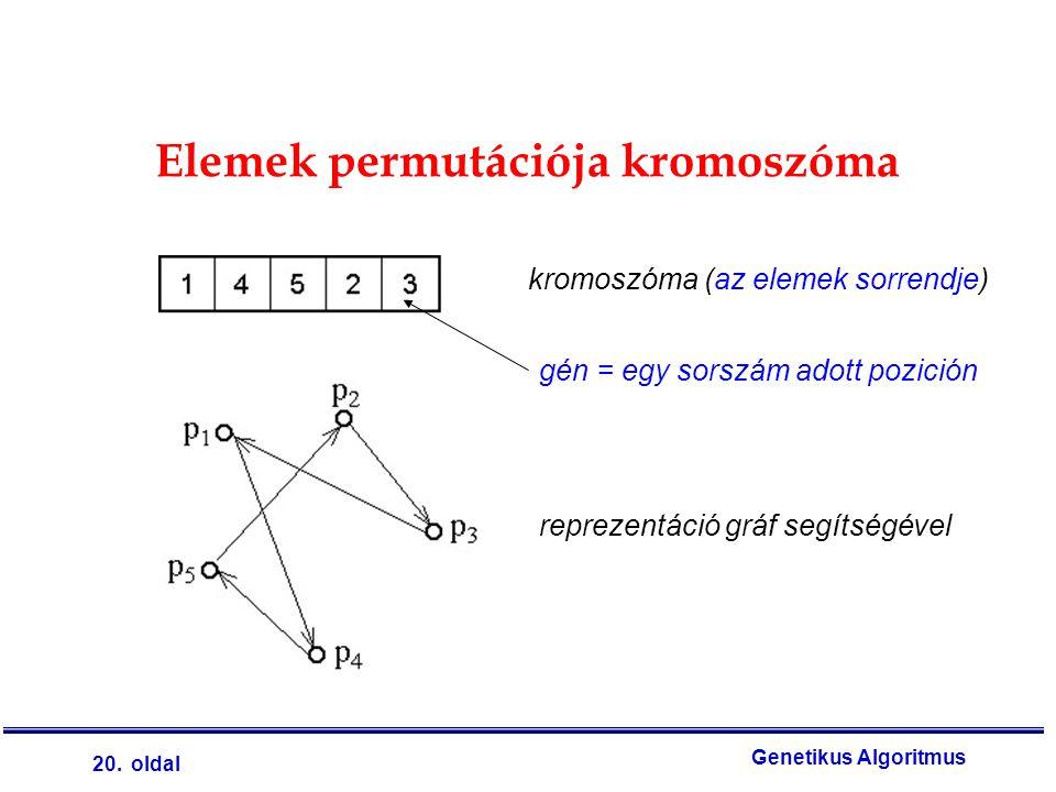 Elemek permutációja kromoszóma