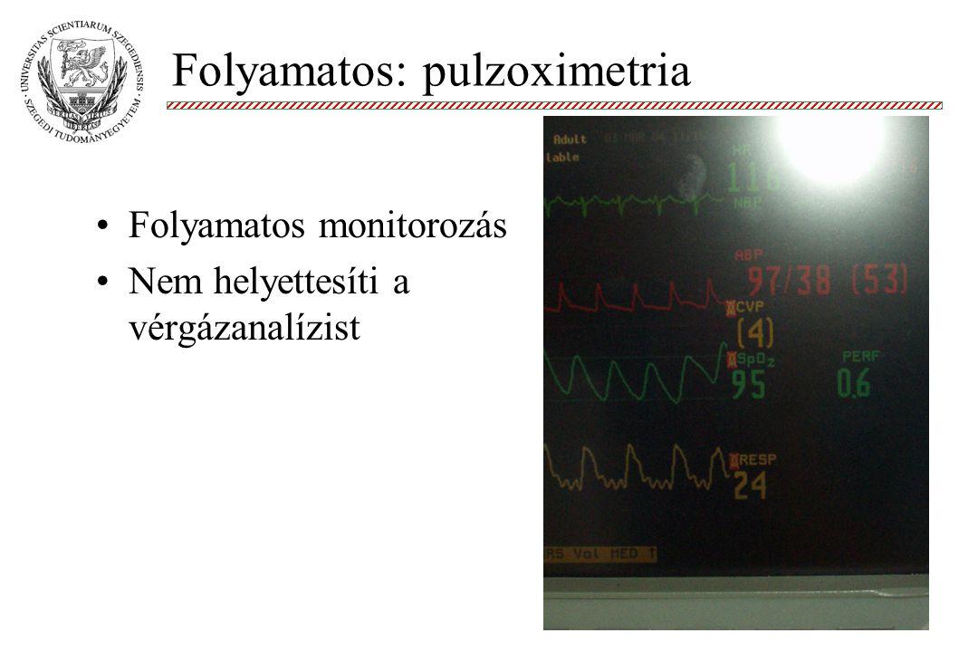 Folyamatos: pulzoximetria