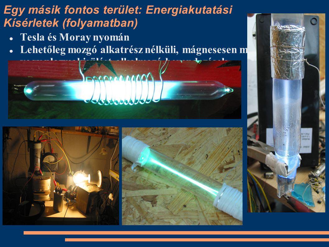 Egy másik fontos terület: Energiakutatási Kísérletek (folyamatban)