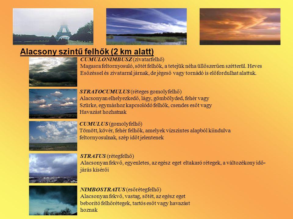 Alacsony szintű felhők (2 km alatt)